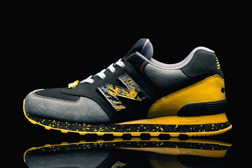 new balance amarillas y negras