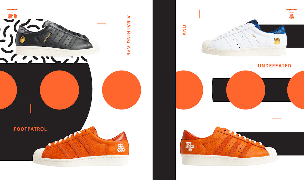 adidas originals superstar bape undefeated foot patrol consortium desempacados