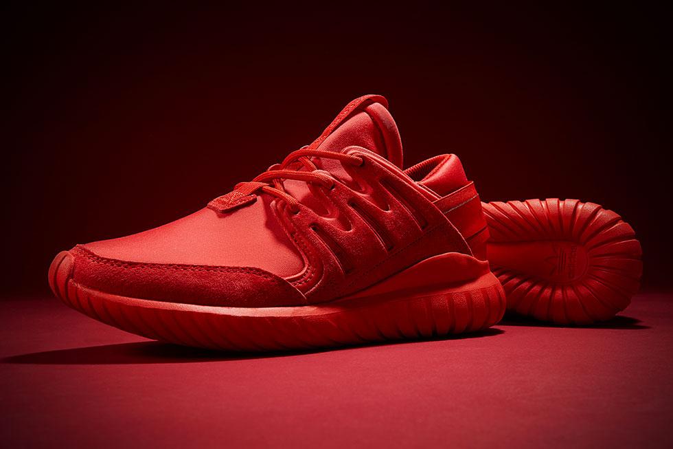 adidas tubular rojo