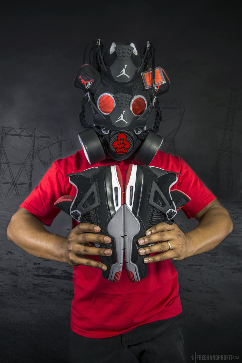 buy online 8304e 92946 Jordan «Black Cement» IV Gas Mask by Freehand Profit