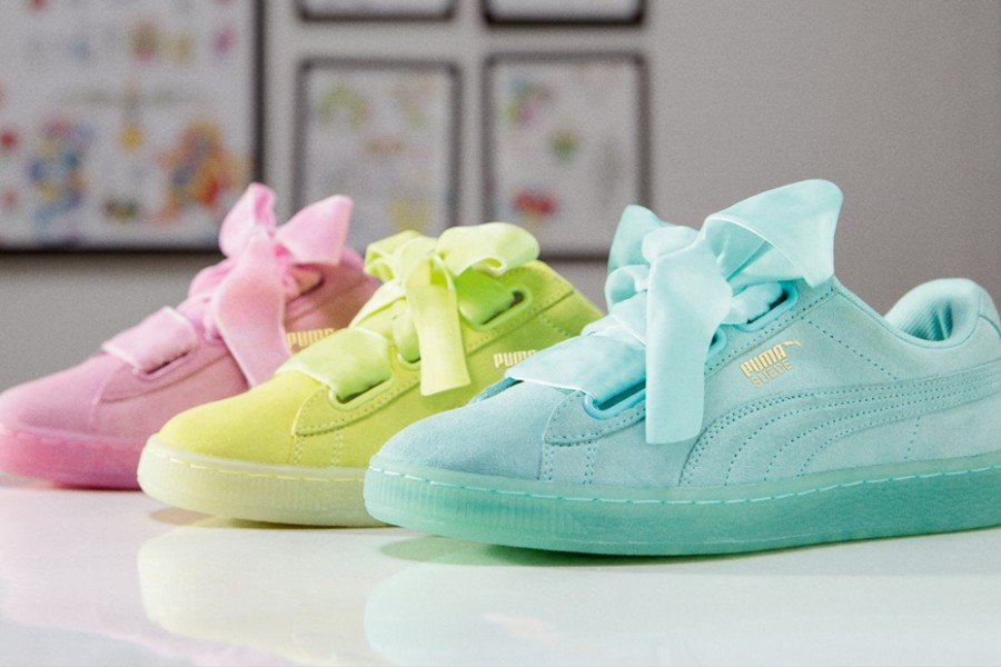 puma suede heart satin mexico