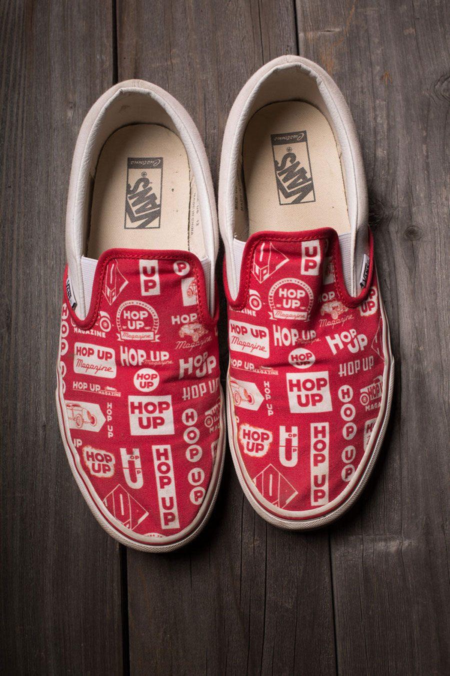 Vans Slip on Customs X Hop Up magazine   Desempacados