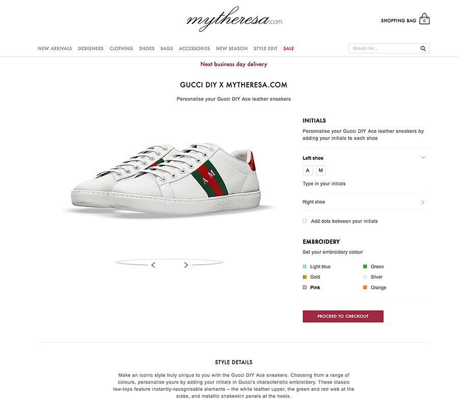 9e4ca64b64 Un par de sneakers con este servicio incluido, tendrá un costo de €540  euros y estará disponible exclusivamente a través de mytheresa.com a partir  del 25 de ...