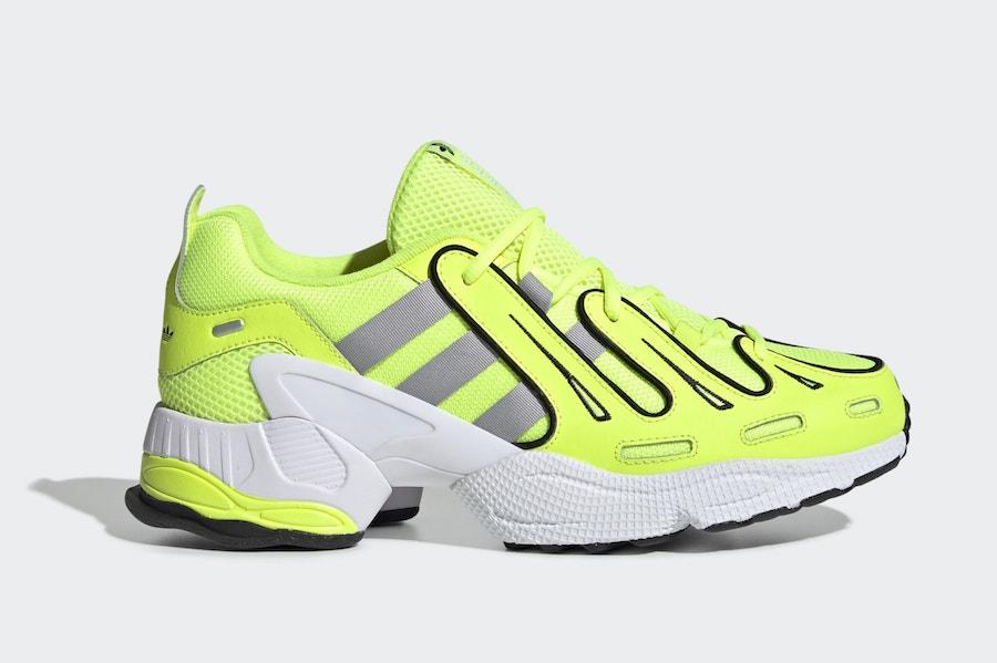 Zapatillas en azul marino y amarillo EQT Gazelle de adidas