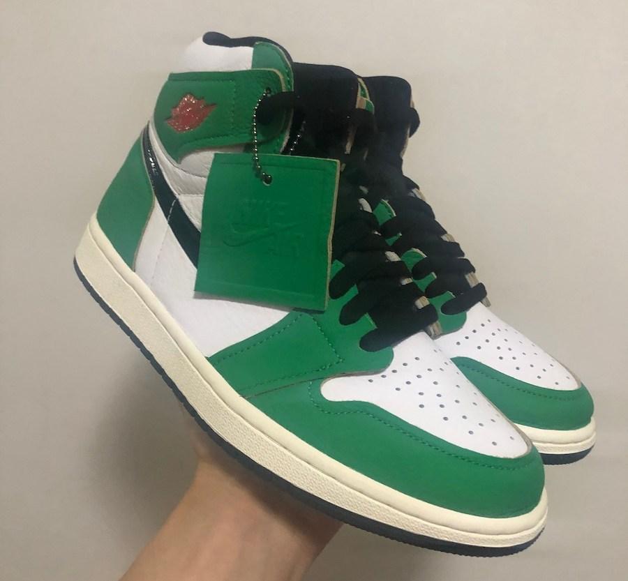 New Nike Air Jordan 1 Retro High OG Lucky Green White Sail